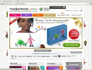 Accéder au site MadamePop And Kids