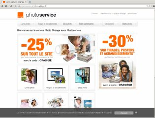 Accéder au site Orange Photo Service